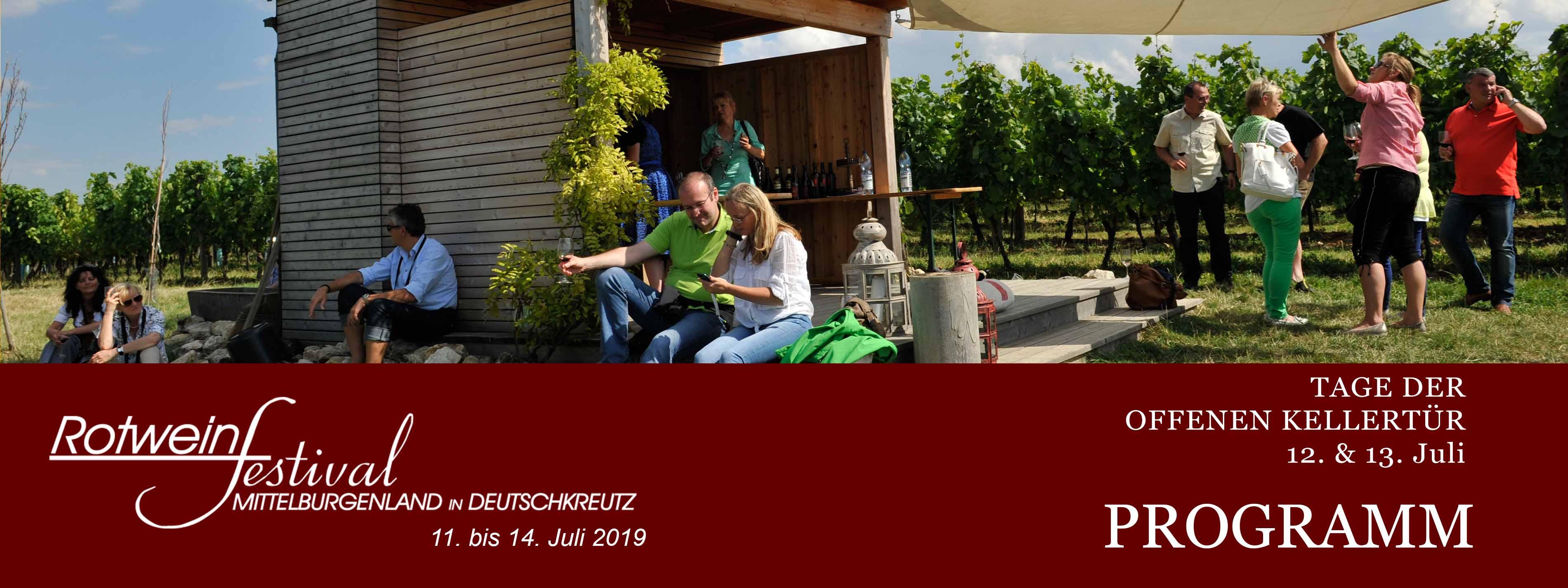 Programm Rotweinfestival 2019